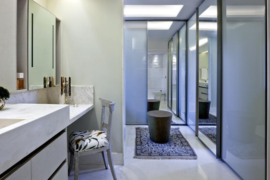 Banheiro dela -  Residência QL14 - Lago Sul